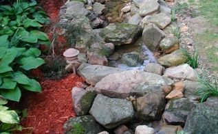 our backyard oasis pond waterfall , diy, landscape, outdoor living, ponds water features
