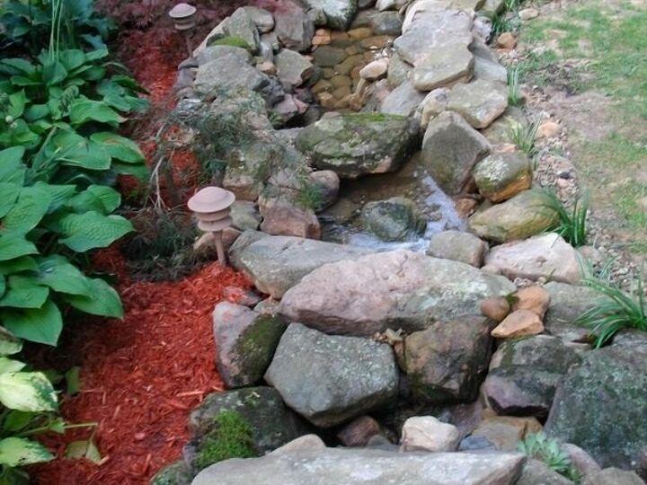 Our Backyard Oasis {Pond & Waterfall}