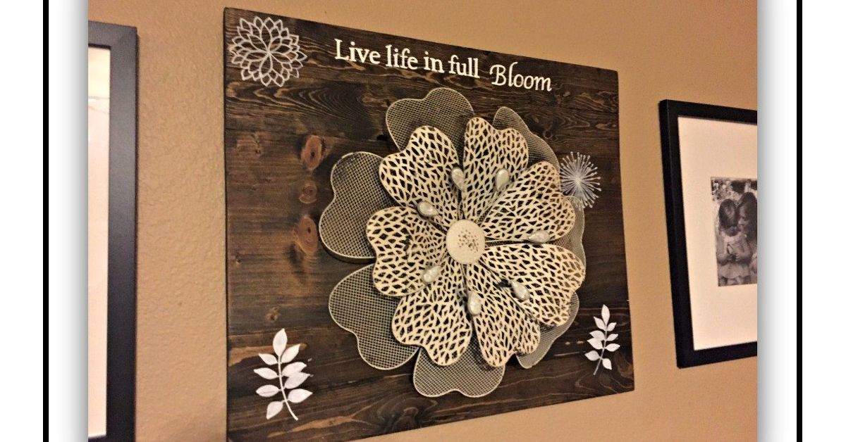 DIY Wood And Metal Decor Wall Art