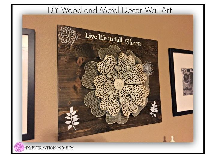 DIY Wood and Metal Decor Wall Art | Hometalk