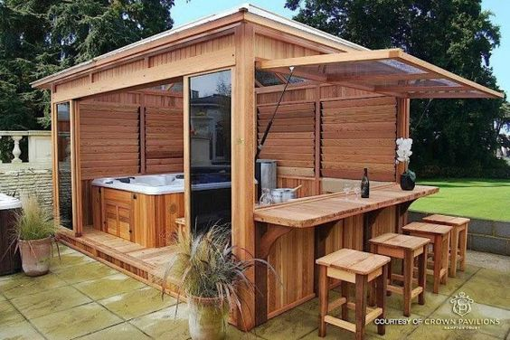 q would it look right to put an outdoor kitchen under screened pool , home decor, home decor dilemma, kitchen design, outdoor living, pool designs