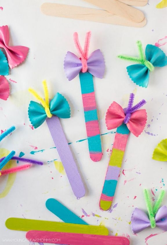 bow tie noodle butterfly bookmarks, crafts, how to