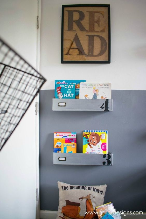 behind the door industrial reading nook, diy, how to, repurposing upcycling, shelving ideas