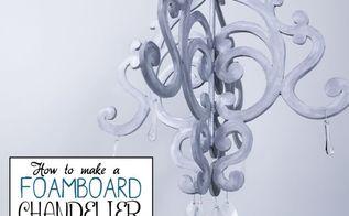 foam board chandelier, crafts, how to, wall decor