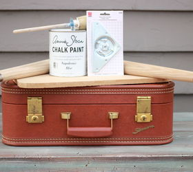 Diy Vintage Suitcase Table, Chalk Paint, Diy, How To, Painted Furniture,