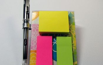 Easy DIY Sticky Notepad Holders W/video