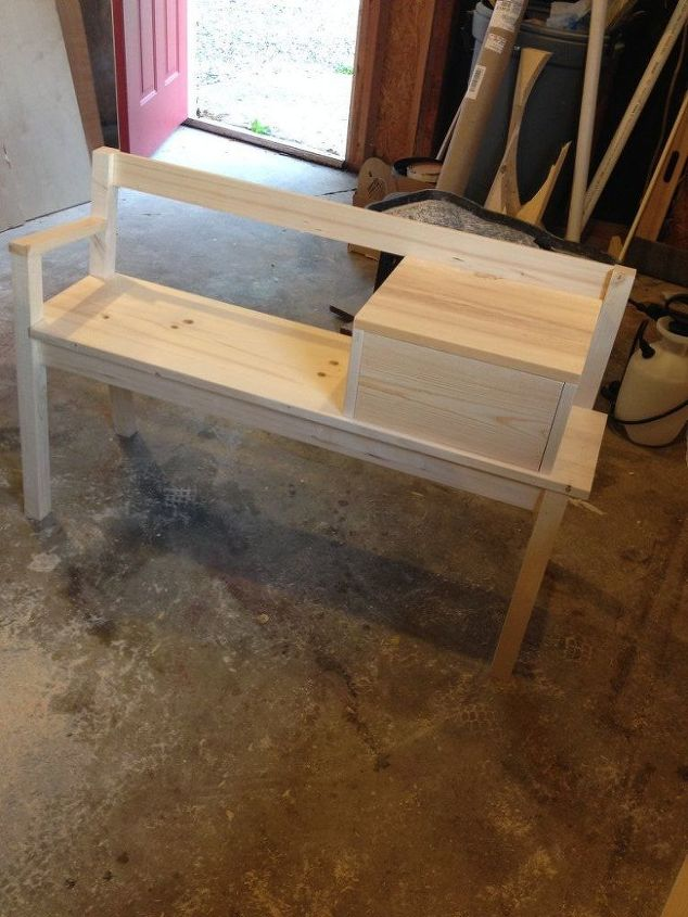 Ideal Making My Own Vintage and Finding My Style–DIY Telephone Bench  IR85