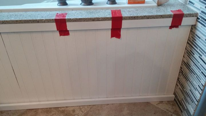 easy cheap update for bad tile, bathroom ideas, home maintenance repairs, tiling
