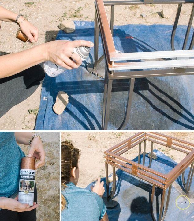 DIY Metallic Ombre Side Table | Hometalk