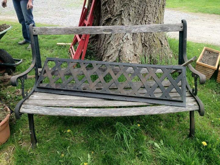 old wooden bench, outdoor furniture - Old Wooden Bench Hometalk