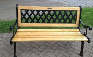 old wooden bench, outdoor furniture