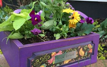 Old Drawer Becomes a Planter in 1 Hour