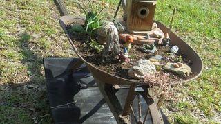 , Wheelbarrow scene created in my neighbors yard
