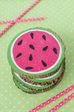 wooden watermelon coasters, crafts, repurposing upcycling