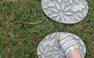 diy embossed stepping stones, concrete masonry, gardening, outdoor living