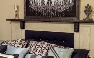 mantel headboard, bedroom ideas, fireplaces mantels, painted furniture