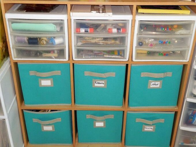 organizing craft room supplies, craft rooms, crafts, organizing, storage ideas