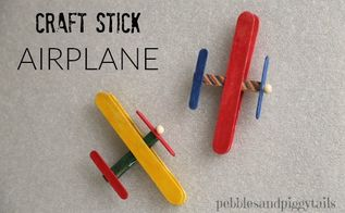 craft stick airplane, crafts, how to