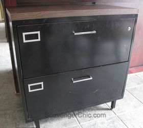 Old Metal File Cabinet Gets A Architectural Style Makeover, Diy, How To,  Painted