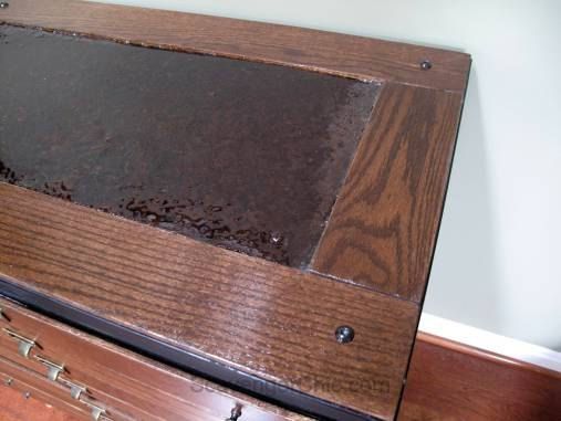 old metal file cabinet gets a architectural style makeover, diy, how to, painted furniture, woodworking projects