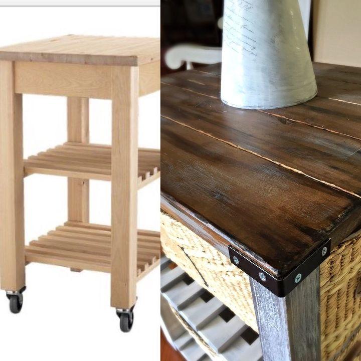 Ultimate Ikea Hack Kitchen Cart Turned Barnwood End Table