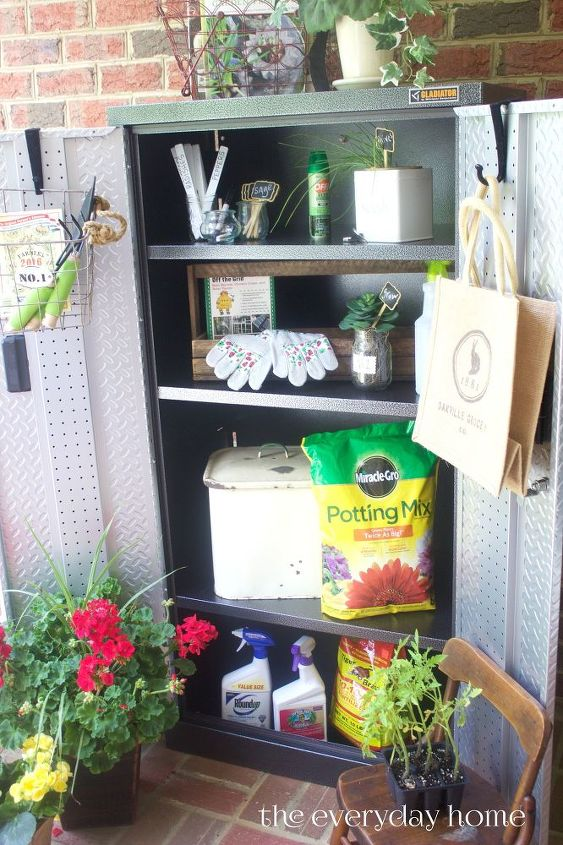 how to set up and organize a garden storage cabinet 8 tips , gardening, how to, organizing, storage ideas