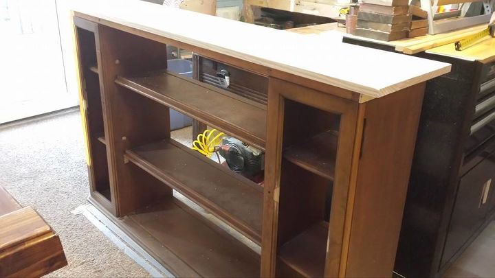 Hutch Top Repurposed Into Dining Room Storage Buffet Ideas Painted Furniture