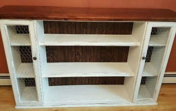 Hutch Top Repurposed Into Dining Room Storage/Buffet
