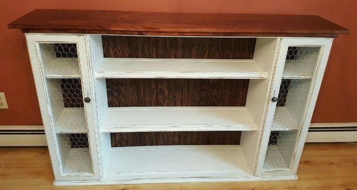 hutch top repurposed into dining room storage buffet, dining room ideas, painted furniture, repurposing upcycling, storage ideas