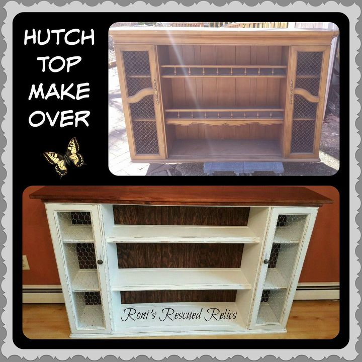 32 Dining Room Storage Ideas: Hutch Top Repurposed Into Dining Room Storage/Buffet