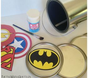 Superhero Wall Decor Using Paint Can Lids, Bedroom Ideas, Crafts,  Decoupage, Repurposing
