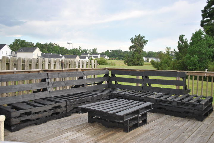 for big decks like mine , decks, diy, outdoor furniture, pallet, woodworking projects