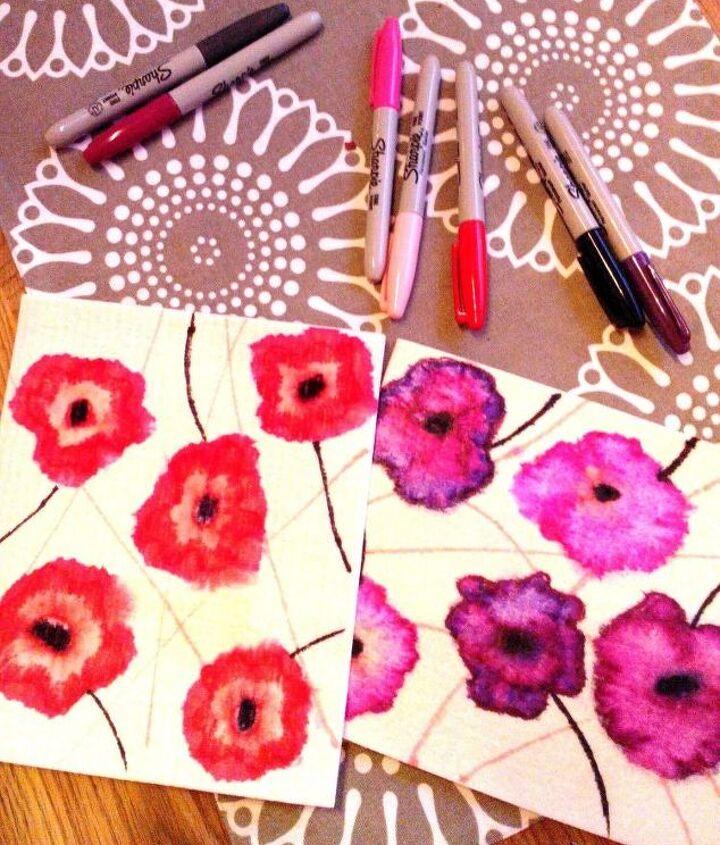 diy sharpie pen dishcloths, crafts