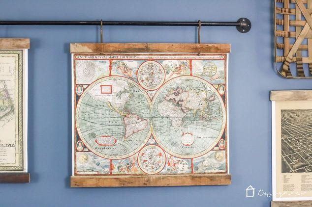 DIY Map Art From Old Pallets   Hometalk