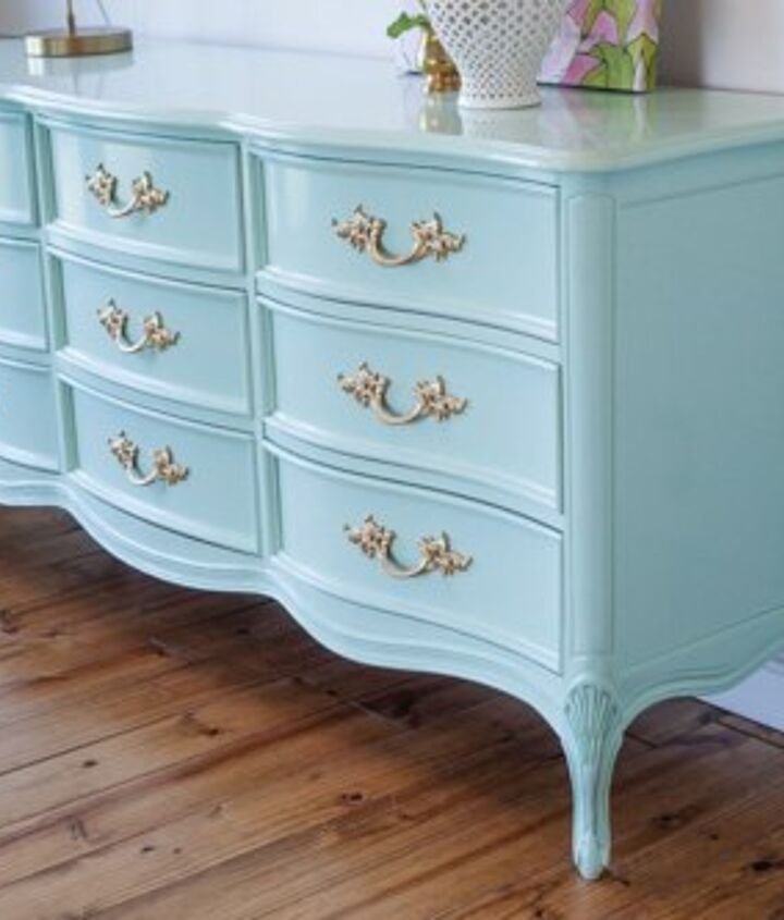 French Provincial Dresser In Mint Bedroom Ideas Painted Furniture