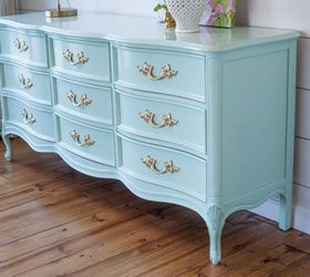 French Provincial Dresser In Mint, Bedroom Ideas, Painted Furniture