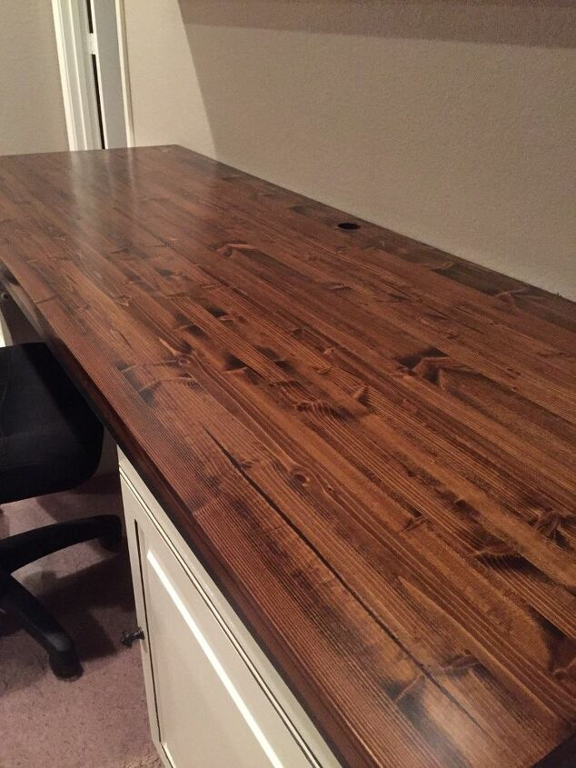 Butcher Block For Our Computer Desk