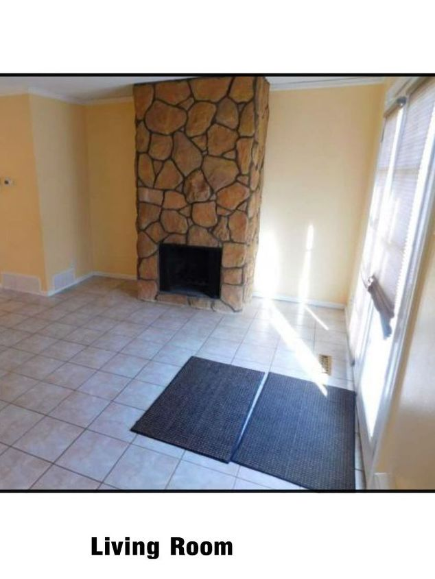q i have very bad eye sore of a fireplace what to do with it it s stone, concrete masonry, fireplaces mantels, home decor, home decor dilemma, Bought this condo in Jan don t know what to do with the fireplace