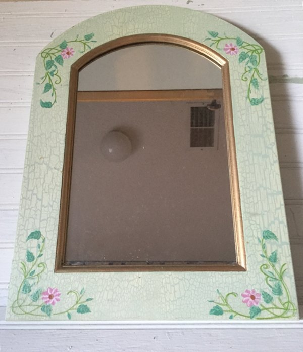 coastal mirror a thrift store find makeover, chalk paint, crafts, wall decor