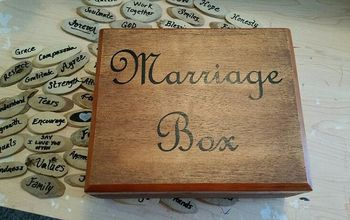 Marriage Box - Made From a Cigar Box