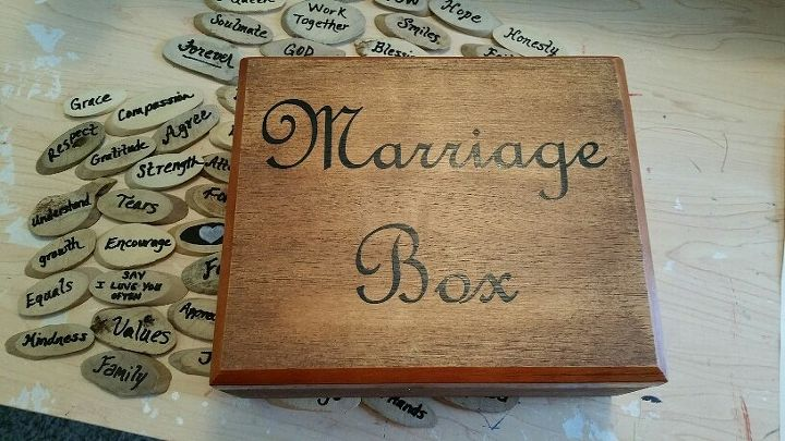 Marriage Box Made From A Cigar Box Hometalk