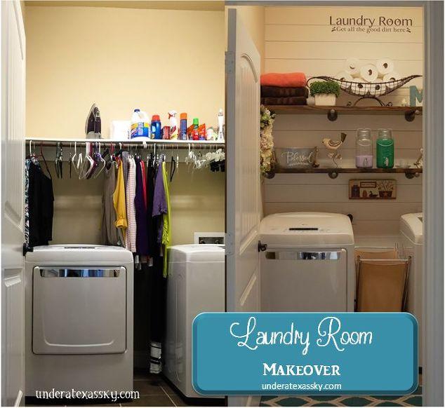 Shiplap Laundry Room Makeover Hometalk - Laundry room shelves