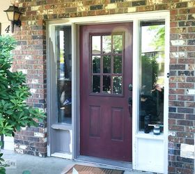 from ugly front door to overnight sensation fast  curb appeal doors paint colors & From Ugly Front Door to Overnight Sensation Thanks to a Little ... pezcame.com