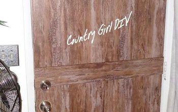 Rustic Wood Look Metal Door