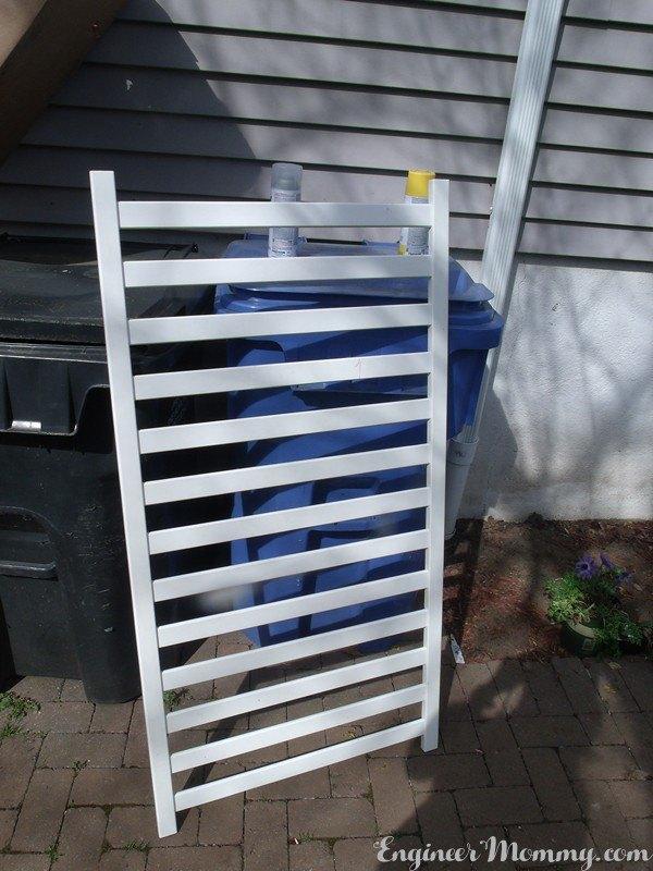crib rails turned diy vertical planter, container gardening, crafts, gardening, outdoor furniture, repurposing upcycling