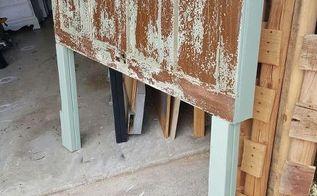queen size vintage door headboard, bedroom ideas, doors, repurposing upcycling