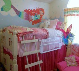 girls mermaid room make over bedroom