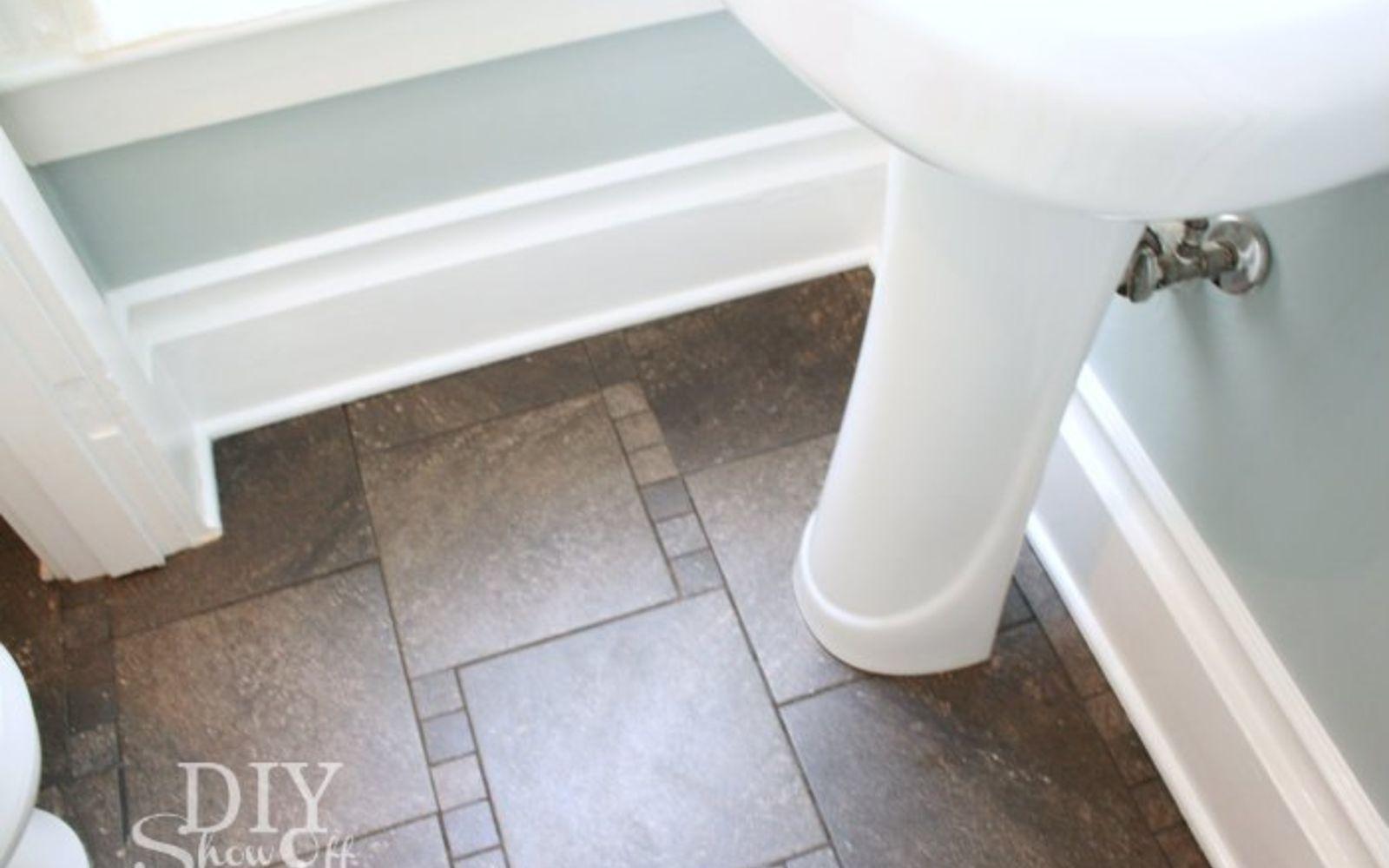Paint over tile floor