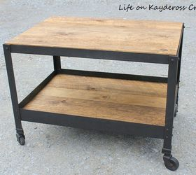 Pottery Barn Inspired Industrial Style End Table Hometalk