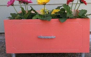 Upcycled Drawer Into Planter